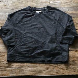 Aerie Charcoal Gray Sweatshirt Hand Pockets Small